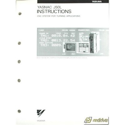 Yaskawa Yasnac CNC Manual J50L Instructions