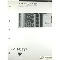 Yaskawa Yasnac CNC Manual LX3BT Operator's Manual