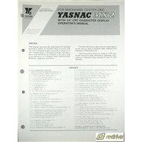 Yaskawa Yasnac CNC Manual MX2 Operator's Manual
