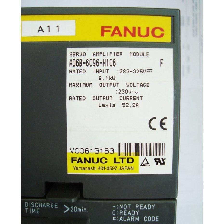 A06B-6096-H106 FANUC Servo Amplifier Module SVM1-130 FSSB alpha servo amp   Single axis A06B-6096 CNC AC servo drive