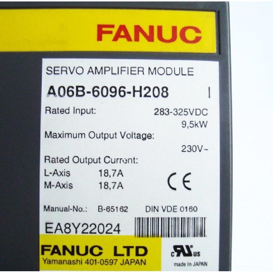 Repair A06B-6096-H208 FANUC Servo Amplifier Module SVM2-80/80 FSSB alpha  servo amp  Dual axis A06B-6096 CNC AC servo drive