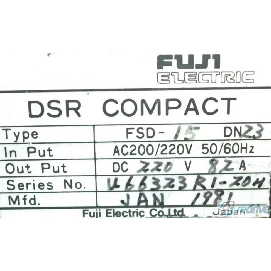Fuji dsr compact Drive manual