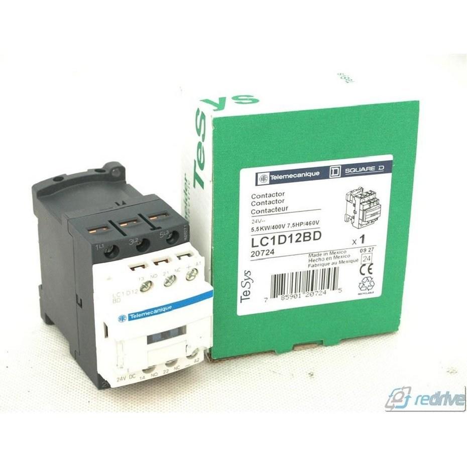 SCHNEIDER ELECTRIC CONTACTOR LC1D12BD 24Vdc 25A A AMP 600Vac