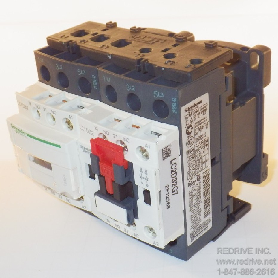 Lc2d32g7 Schneider Electric Contactor Reversing 3 Pole 50a 120vac Coil 240 Phase Wiring