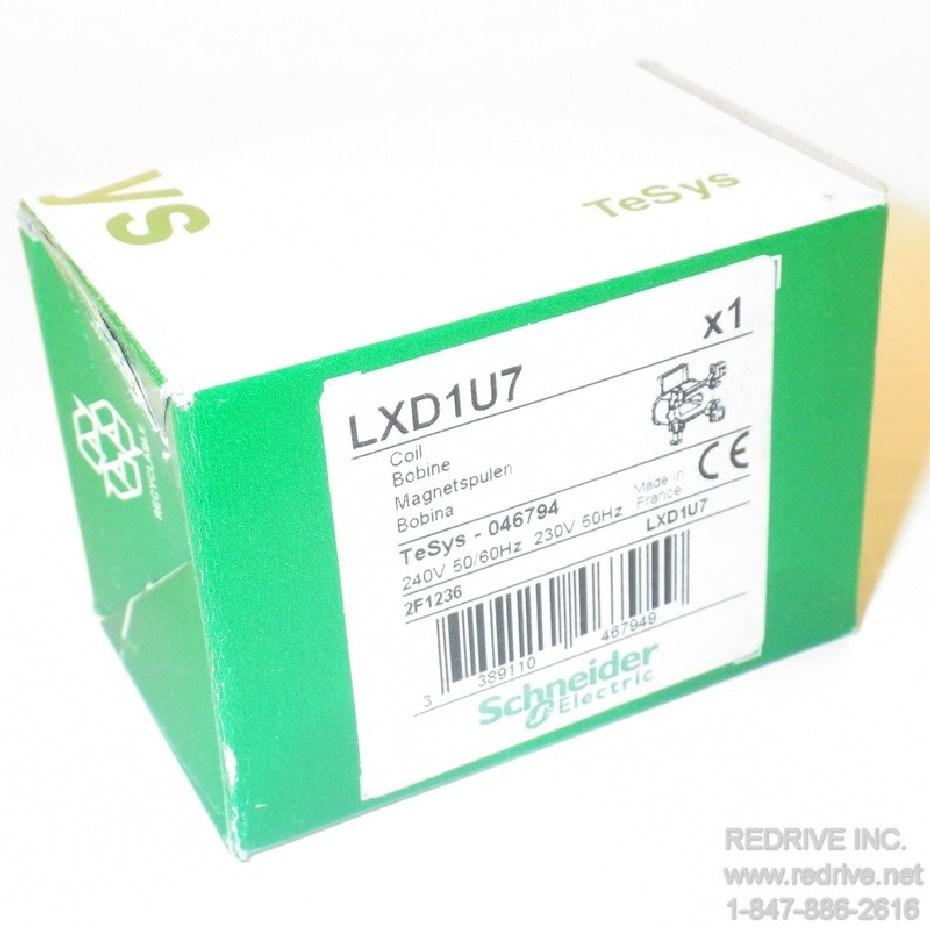 telemecanique coil bobine 240v 50//60 hz lxd1u7